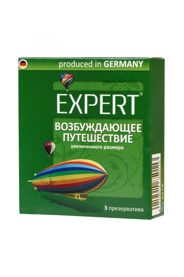 Презервативы Expert ''Возбуждающее путешествие'' №3, увеличенного размера, 3шт, Категория - Презервативы/Классические презервативы, Атрикул 0T-00011613 Изображение 2