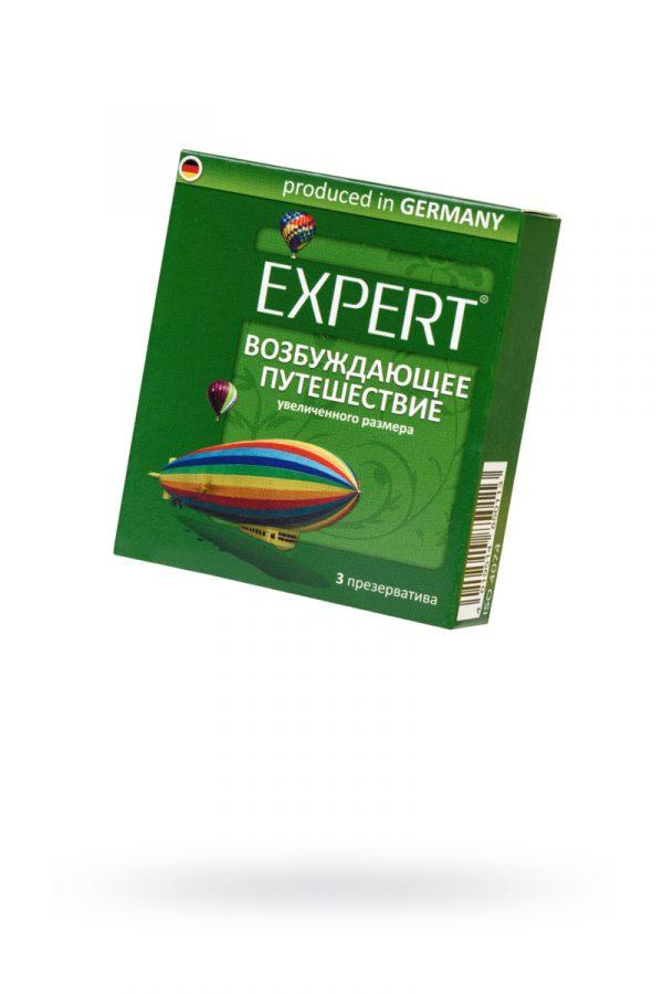 Презервативы Expert ''Возбуждающее путешествие'' №3, увеличенного размера, 3шт, Категория - Презервативы/Классические презервативы, Атрикул 0T-00011613 Изображение 1