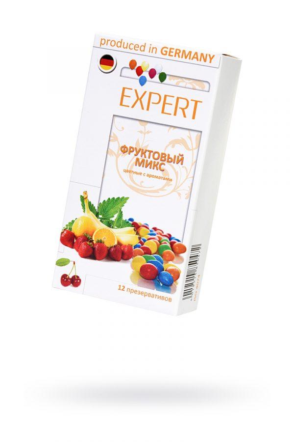 Презервативы Expert ''Фруктовый микс'' №12, цветные с ароматами: клубники, апельсина, банана, 12шт, Категория - Презервативы/Классические презервативы, Атрикул 0T-00011622 Изображение 1