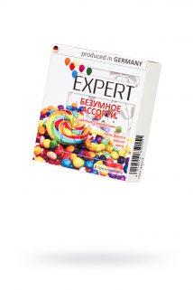 Презервативы Expert ''Безумное ассорти'' №3, цветные с ароматами: тутти-фрутти, вишня, мята, 3шт, Категория - Презервативы/Классические презервативы, Атрикул 0T-00011623 Изображение 1