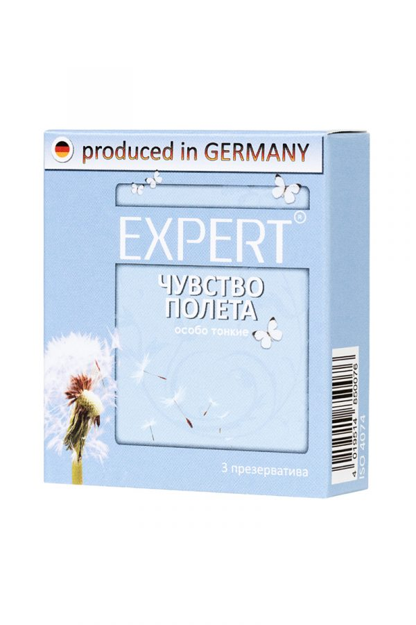 Презервативы Expert ''Чувство полета'' №3, супер тонкие, 3шт, Категория - Презервативы/Классические презервативы, Атрикул 0T-00011625 Изображение 2