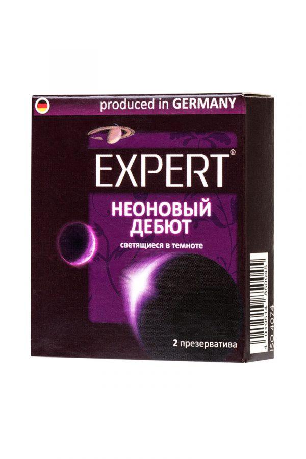 Презервативы Expert ''Неоновый дебют'' №2, светящиеся в темноте, 2шт, Категория - Презервативы/Классические презервативы, Атрикул 0T-00011627 Изображение 2