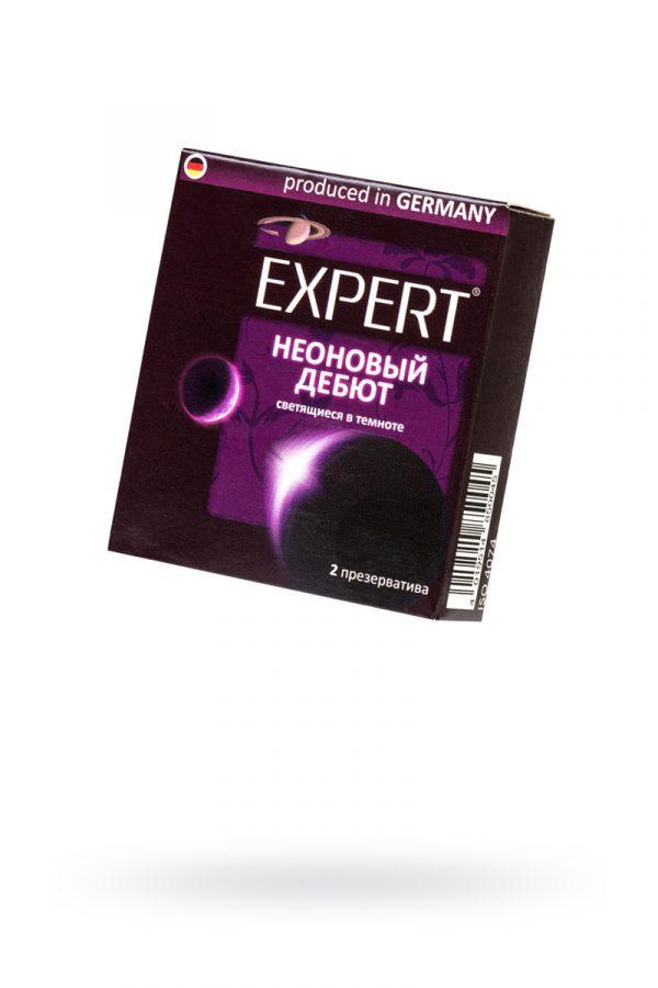Презервативы Expert ''Неоновый дебют'' №2, светящиеся в темноте, 2шт, Категория - Презервативы/Классические презервативы, Атрикул 0T-00011627 Изображение 1