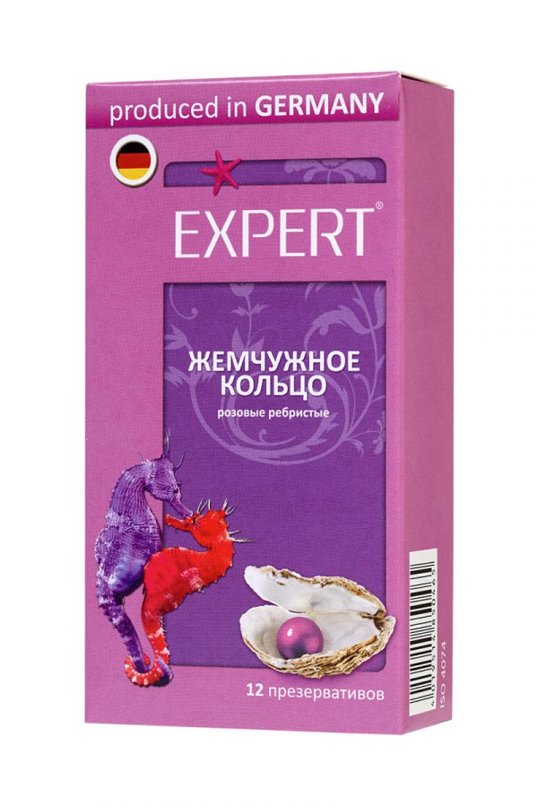 Презервативы Expert ''Жемчужное кольцо'' №12, розовые с перламутровыми точками, 12шт, Категория - Презервативы/Рельефные и фантазийные презервативы, Атрикул 0T-00011630 Изображение 2