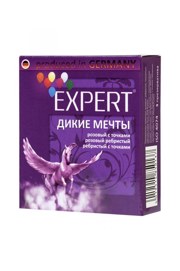 Презервативы Expert ''Дикие мечты'' №3, микс: ребристые, с точками, прочные, 3шт, Категория - Презервативы/Рельефные и фантазийные презервативы, Атрикул 0T-00011634 Изображение 2