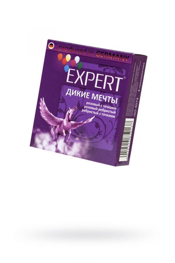 Презервативы Expert ''Дикие мечты'' №3, микс: ребристые, с точками, прочные, 3шт, Категория - Презервативы/Рельефные и фантазийные презервативы, Атрикул 0T-00011634 Изображение 1