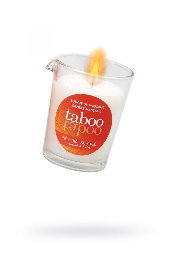 Массажное аромамасло с афродизиаками для женщин RUF Taboo - Pêche sucre, сладкий персик, 60 г, Категория - Интимная косметика/Средства для массажа/Массажные свечи, Атрикул 0T-00011555 Изображение 1