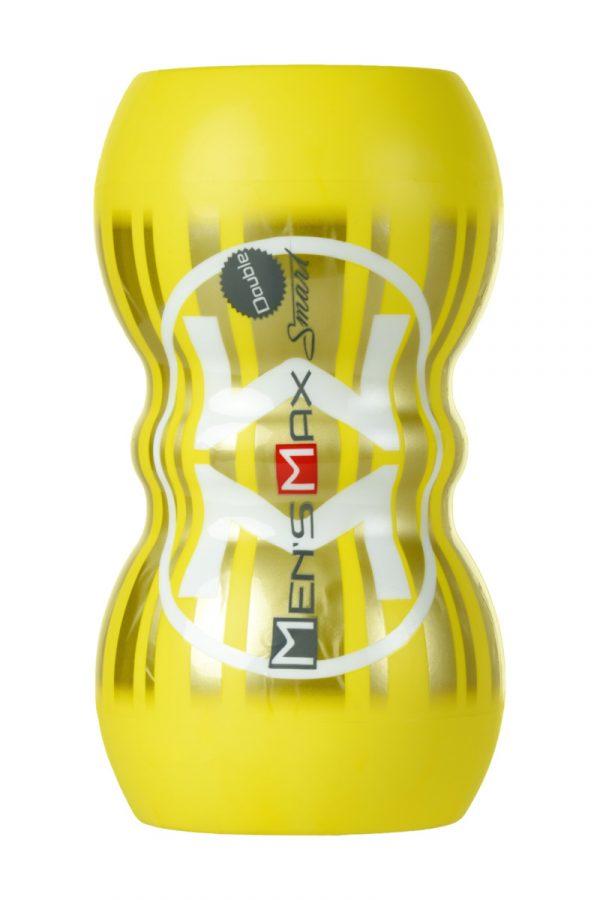 Мастурбатор нереалистичный, Smart Doubble, MensMax, TPE, желтый, 14,5 см, Категория - Секс-игрушки/Мастурбаторы/Нереалистичные мастурбаторы, Атрикул 0T-00011688 Изображение 2