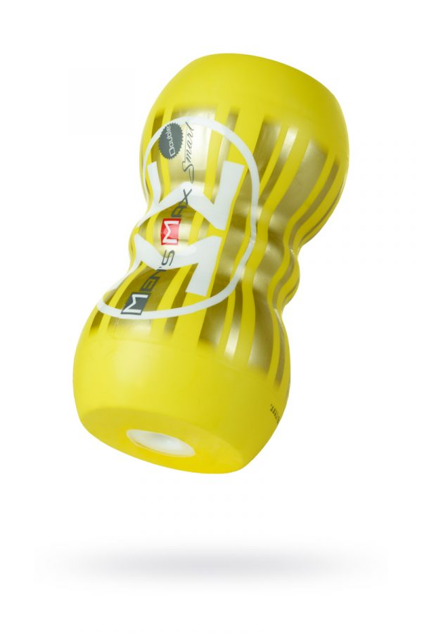 Мастурбатор нереалистичный, Smart Doubble, MensMax, TPE, желтый, 14,5 см, Категория - Секс-игрушки/Мастурбаторы/Нереалистичные мастурбаторы, Атрикул 0T-00011688 Изображение 1