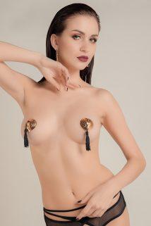 Пэстис Waname Apparel Hearts with tassels в форме сердец с кисточками золотисто-черные, Категория - Белье и одежда/Аксессуары для белья и одежды/Украшения на грудь, Атрикул 0T-00012009 Изображение 1