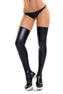 XL Чулки Glossy из материала Wetlook, черный, XL, Категория - Белье и одежда/Чулки и колготки/Чулки, Атрикул 0T-00011952 Изображение 1