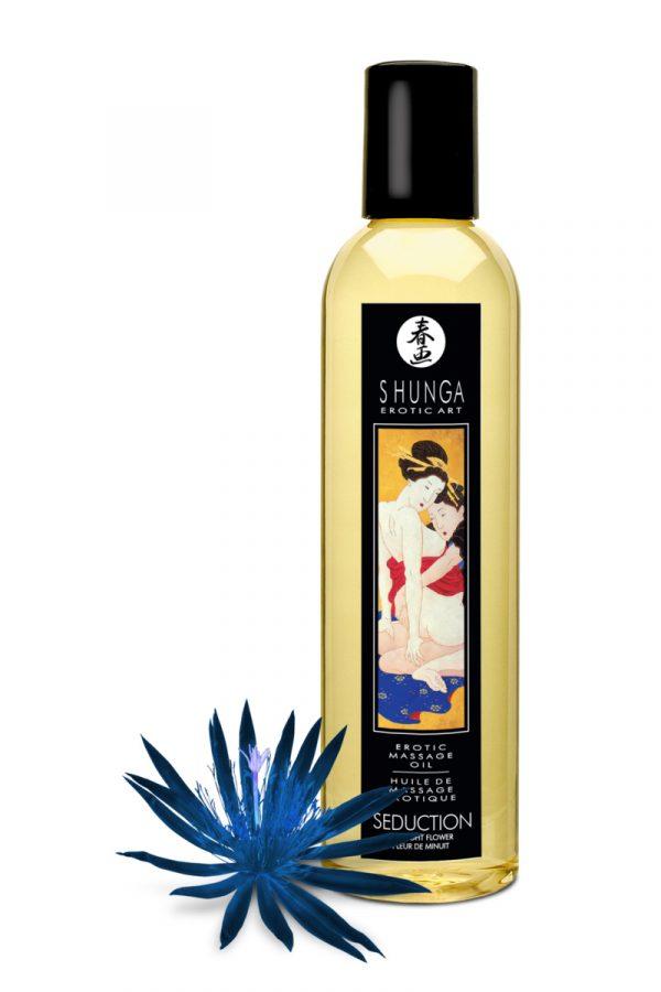 Массажное масло Shunga Полуночный цветок, возбуждающее, натуральное, 250 мл, Категория - Интимная косметика/Средства для массажа/Гели и масла, Атрикул 0T-00012503 Изображение 2