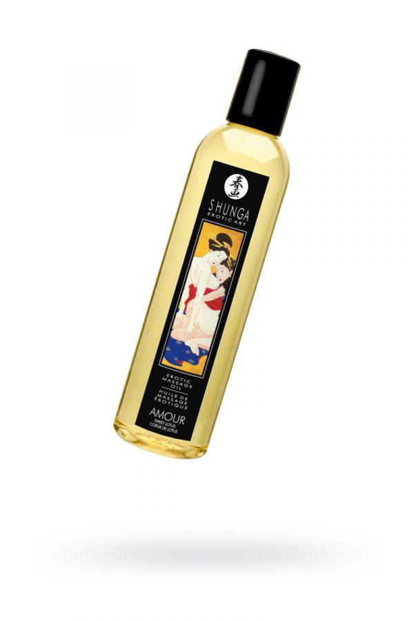 Массажное масло Shunga Сладкий лотос, возбуждающее, натуральное, 250 мл, Категория - Интимная косметика/Средства для массажа/Гели и масла, Атрикул 0T-00012504 Изображение 1