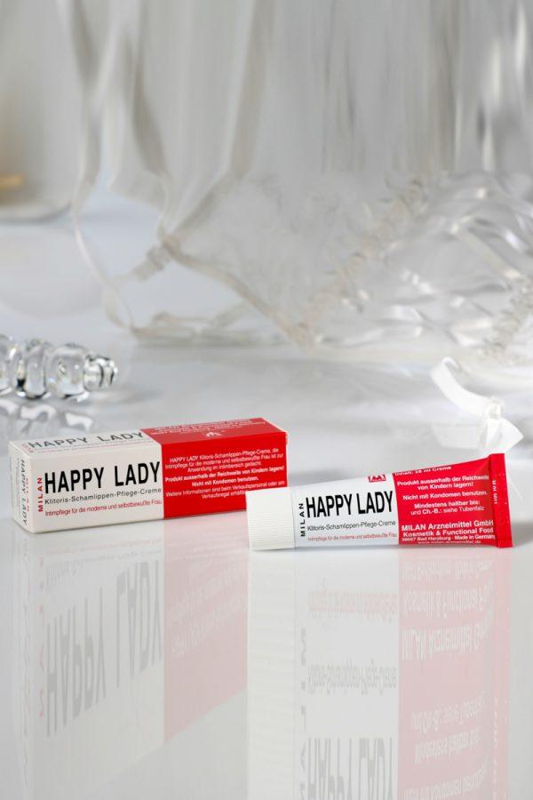 Крем для усиления возбуждения Milan Happy Lady для женщин, 28 мл, Категория - Интимная косметика/Кремы для стимуляции и коррекции размеров/Кремы возбуждающие, Атрикул 00000080 Изображение 2