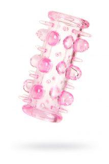 Набор насадок 5 шт TOYFA, TPE, розовый, 7 см, Категория - Секс-игрушки/Кольца и насадки/Наборы колец и насадок, Атрикул 0T-00001784 Изображение 1