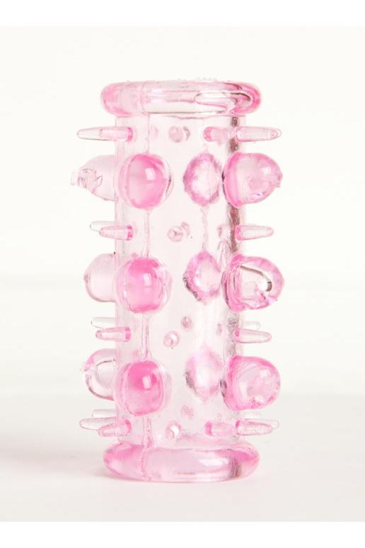 Набор насадок 5 шт TOYFA, TPE, розовый, 7 см, Категория - Секс-игрушки/Кольца и насадки/Наборы колец и насадок, Атрикул 0T-00001784 Изображение 2