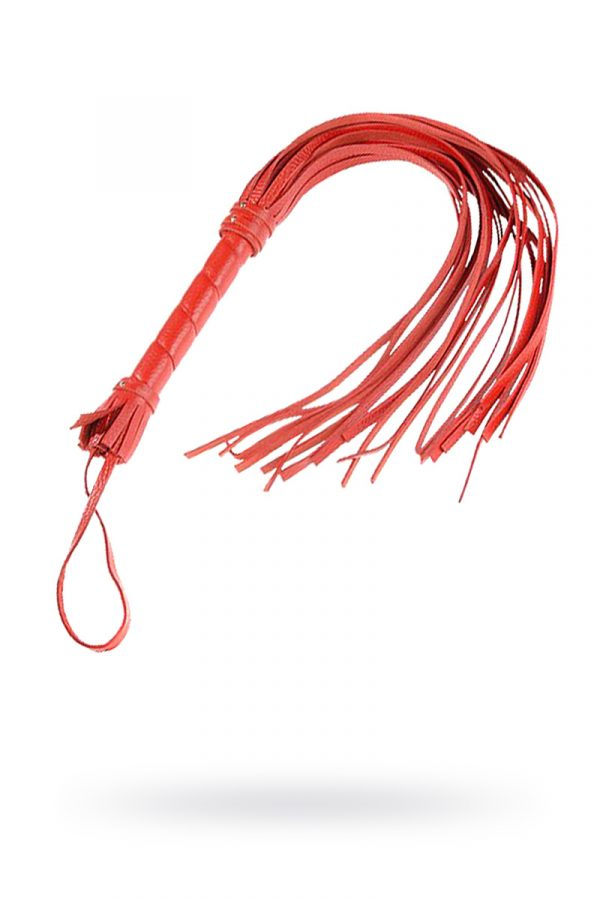 Плеть Sitabella красная 40 см,кожа, Категория - БДСМ, фетиш/Ударные девайсы/Кнуты, плети, флоггеры, Атрикул 0T-00003266 Изображение 1