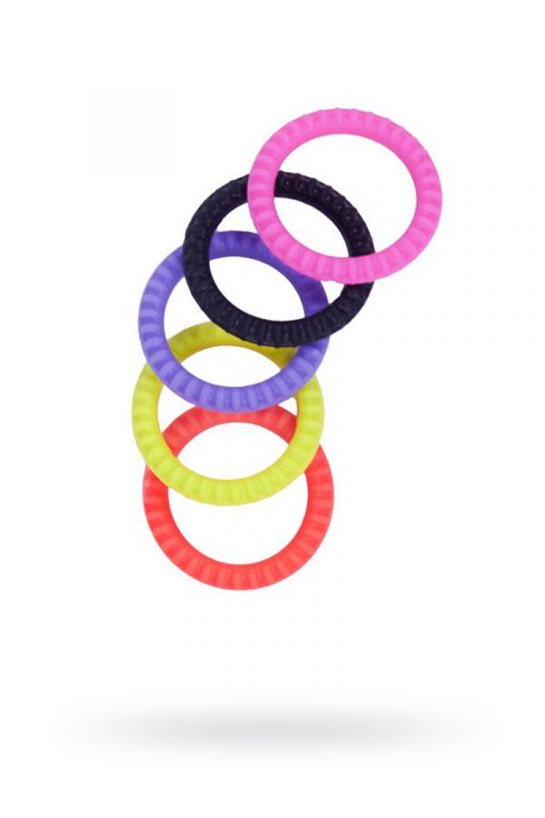 Эрекционные кольца NMC Erection Commander, силиконовые, цветные, диаметр 3,2 см, 5 шт., Категория - Секс-игрушки/Кольца и насадки/Кольца на пенис, Атрикул 0T-00005767 Изображение 1