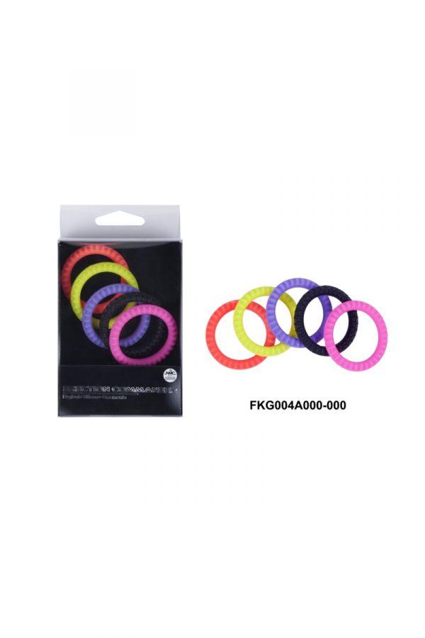 Эрекционные кольца NMC Erection Commander, силиконовые, цветные, диаметр 3,2 см, 5 шт., Категория - Секс-игрушки/Кольца и насадки/Кольца на пенис, Атрикул 0T-00005767 Изображение 2