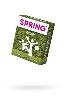 Презервативы Spring Classic, с гладкой поверхностью, латекс, 3 шт, Категория - Презервативы/Классические презервативы, Атрикул 0T-00007146 Изображение 1