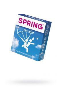 Презервативы Spring Sky Light, с гладкой поверхностью, ультратонкие, латекс, 3 шт, Категория - Презервативы/Классические презервативы, Атрикул 0T-00007135 Изображение 1