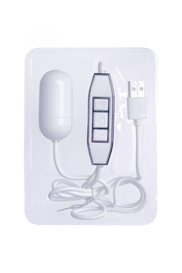 Виброяйцо NMC Powerful X, 5 режимов вибрации с 5 уровнями мощности, белое, 5 см, Категория - Секс-игрушки/Вибраторы/Виброяйца, Атрикул 0T-00007176 Изображение 2