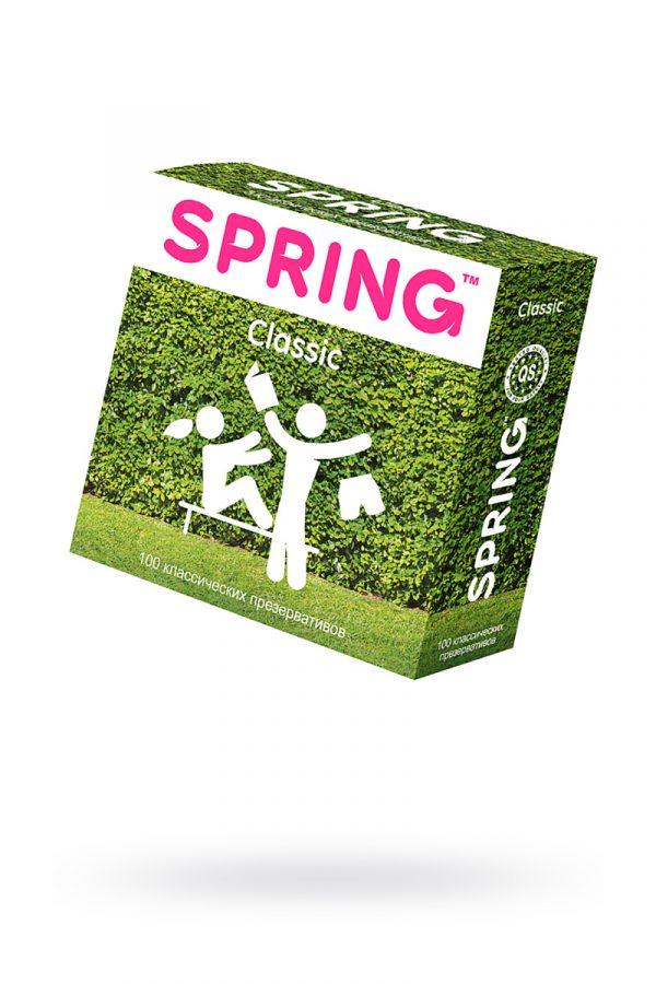 Презервативы Spring Classic, с гладкой поверхностью, латекс, 100 шт, Категория - Презервативы/Классические презервативы, Атрикул 0T-00007460 Изображение 1