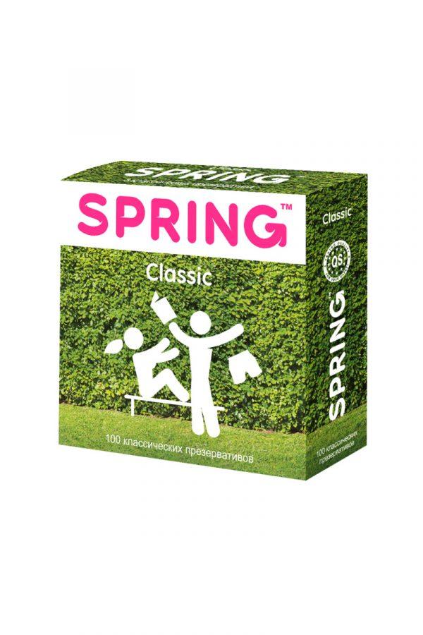 Презервативы Spring Classic, с гладкой поверхностью, латекс, 100 шт, Категория - Презервативы/Классические презервативы, Атрикул 0T-00007460 Изображение 2