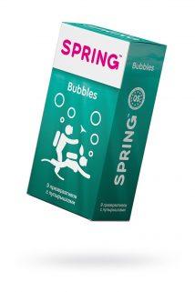 Презервативы Spring Bubbles, с точечной поверхностью, латекс, 9 шт, Категория - Презервативы/Рельефные и фантазийные презервативы, Атрикул 0T-00007529 Изображение 1