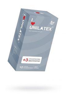 Презервативы Unilatex Ribbed №12 ребристые, Категория - Презервативы/Рельефные и фантазийные презервативы, Атрикул 0T-00009297 Изображение 1