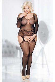 XL/XXXL Костюм-сетка SoftLine Collection Ladybird, черный, XL/XXXL, Категория - Белье и одежда/Женская одежда и белье/Костюмы и платья в сетку, Атрикул 0T-00009906 Изображение 1