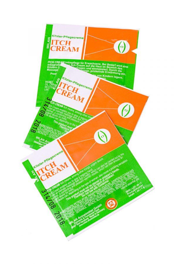 Крем возбуждающий Milan Itch Cream для женщин, саше10 шт, Категория - Интимная косметика/Кремы для стимуляции и коррекции размеров/Кремы возбуждающие, Атрикул 0T-00010652 Изображение 3
