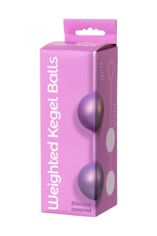 Вагинальные шарики Seven Creations, металлические в силиконе, фиолетовые, Ø3 см., Категория - Секс-игрушки/Вагинальные шарики и тренажеры интимных мышц/Вагинальные шарики, Атрикул 0T-00010670 Изображение 3