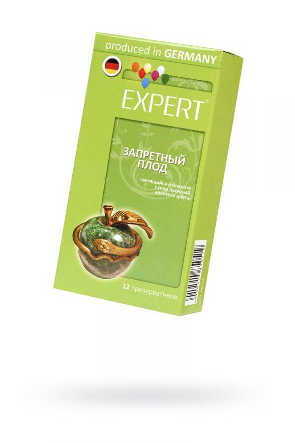 Презервативы Expert ''Запретный плод'' №12, светящийеся в темноте, золотого цвета, супер прочные, 12шт, Категория - Презервативы/Классические презервативы, Атрикул 0T-00011618 Изображение 1