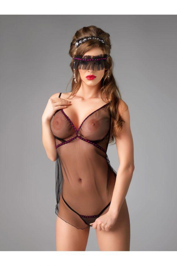 S/M Комплект Me Seduce Diva (комбинация, повязка на глаза и стринги), черный, S/M, Категория - Белье и одежда/Женская одежда и белье/Комплекты одежды и белья, Атрикул 0T-00012126 Изображение 1