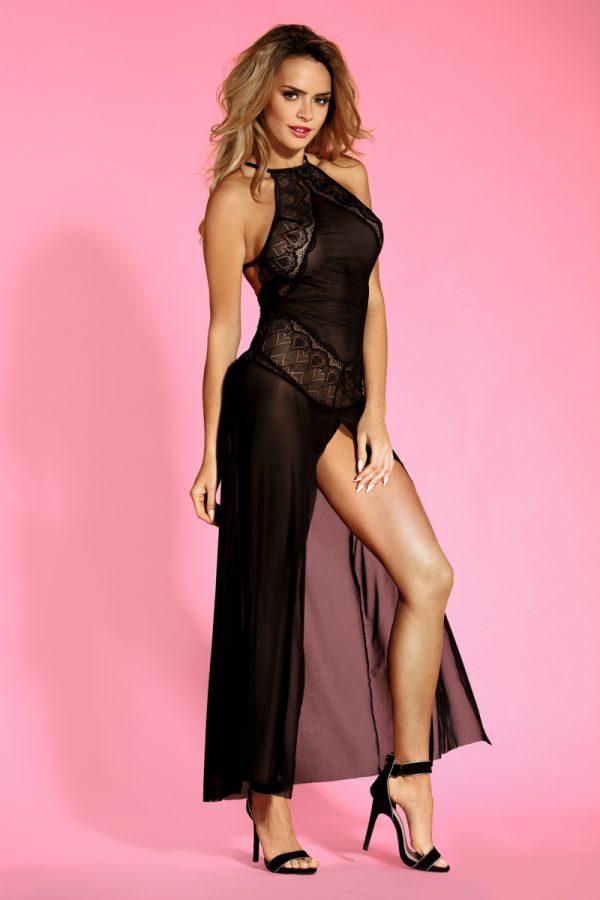 One Size Комбинация и стринги Candy Girl Layla черные, OS, Категория - Белье и одежда/Женское нижнее белье/Комбинации, ночные сорочки, пеньюары, Атрикул 0T-00012291 Изображение 1