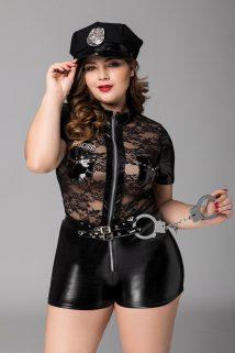2XL Костюм полицейской Candy Girl Porsche (комбинезон, головной убор, наручники) черный, 2XL, Категория - Белье и одежда/Женская одежда и белье/Игровые костюмы, Атрикул 0T-00012302 Изображение 1