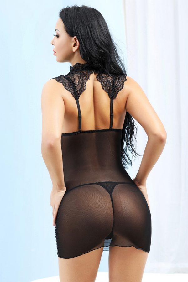 One Size OS Комбинация и стринги Candy Girl Luscious, черный, Категория - Белье и одежда/Женское нижнее белье/Комбинации, ночные сорочки, пеньюары, Атрикул 0T-00012749 Изображение 2
