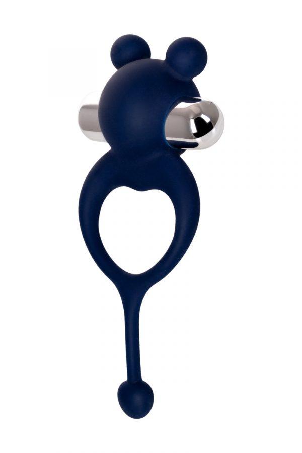 Виброкольцо с хвостиком JOS MICKEY, силикон, синий, 12,5 см, Категория - Секс-игрушки/Кольца и насадки/Кольца на пенис, Атрикул 0T-00012482 Изображение 3