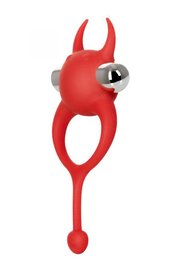 Виброкольцо с хвостиком JOS NICK, силикон, красный, 13,5 см, Категория - Секс-игрушки/Кольца и насадки/Кольца на пенис, Атрикул 0T-00012483 Изображение 2