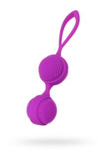 Вагинальные шарики с ресничками JOS NUBY, силикон, фиолетовый, 3,8 см, Категория - Секс-игрушки/Вагинальные шарики и тренажеры интимных мышц/Вагинальные шарики, Атрикул 0T-00011759 Изображение 1