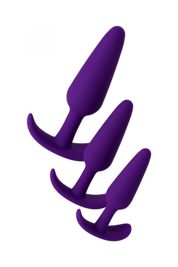 Набор анальных втулок TOYFA A-toys, Силикон,  Фиолетовый, 3  шт., Категория - Секс-игрушки/Анальные игрушки/Наборы анальных игрушек, Атрикул 0T-00011929 Изображение 2