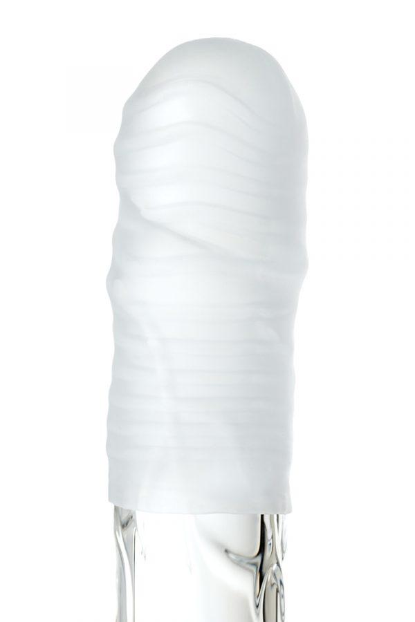 Мастурбатор TOYFA A-Toys Pocket Stripy, TPR, белый, 7,8 см (растягивается до 30 см), Категория - Секс-игрушки/Мастурбаторы/Нереалистичные мастурбаторы, Атрикул 0T-00012881 Изображение 2