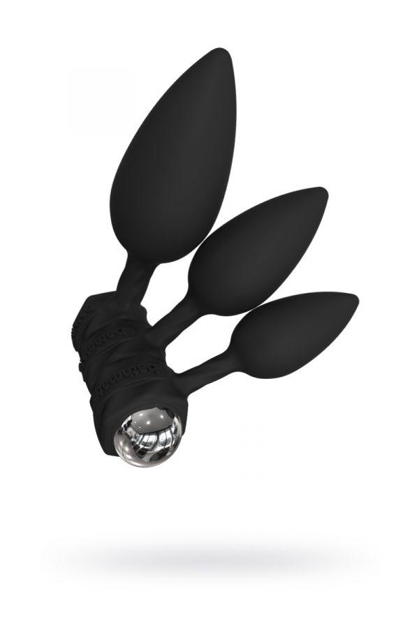 Набор анальных плагов Bathmate Anal Training Plugs VIBE, силикон, чёрный, Категория - Секс-игрушки/Анальные игрушки/Анальные пробки и втулки, Атрикул 0T-00013045 Изображение 1