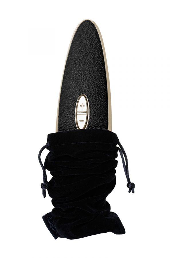 Вибратор Satisfyer Luxury Haute couture, с вакуум-волновым бесконтактным стимулятором, силикон, черный, 22см, Категория - Секс-игрушки/Стимуляторы клитора и наружных интимных зон/Вакуумные стимуляторы клитора, Атрикул 0T-00013247 Изображение 2