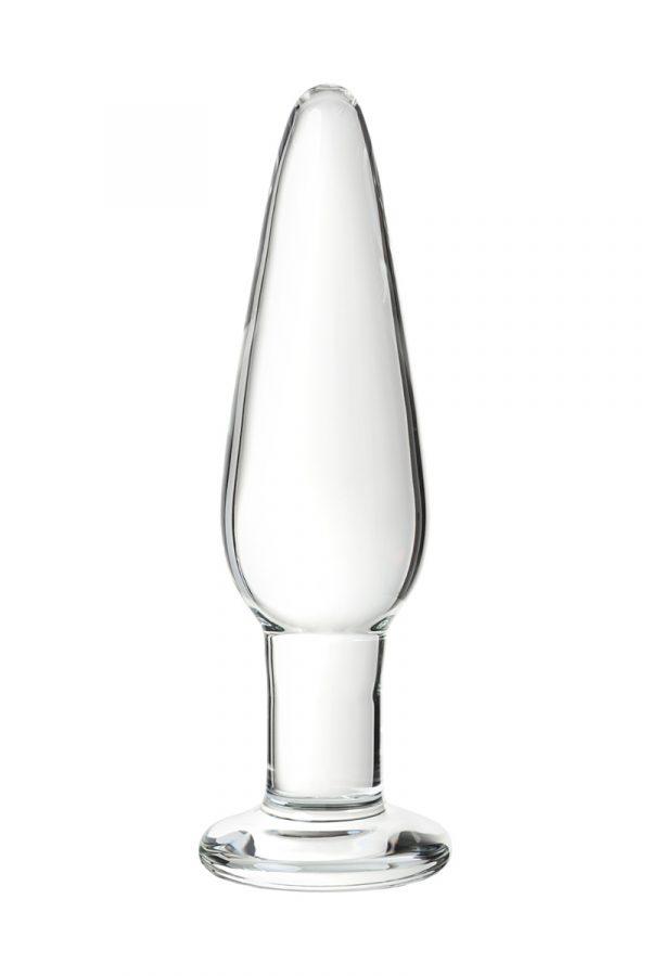 Набор анальных втулок Sexus Glass, стеклянная, бело-чёрная, 11,6 см, Категория - Секс-игрушки/Анальные игрушки/Анальные пробки и втулки, Атрикул 0T-00012477 Изображение 3