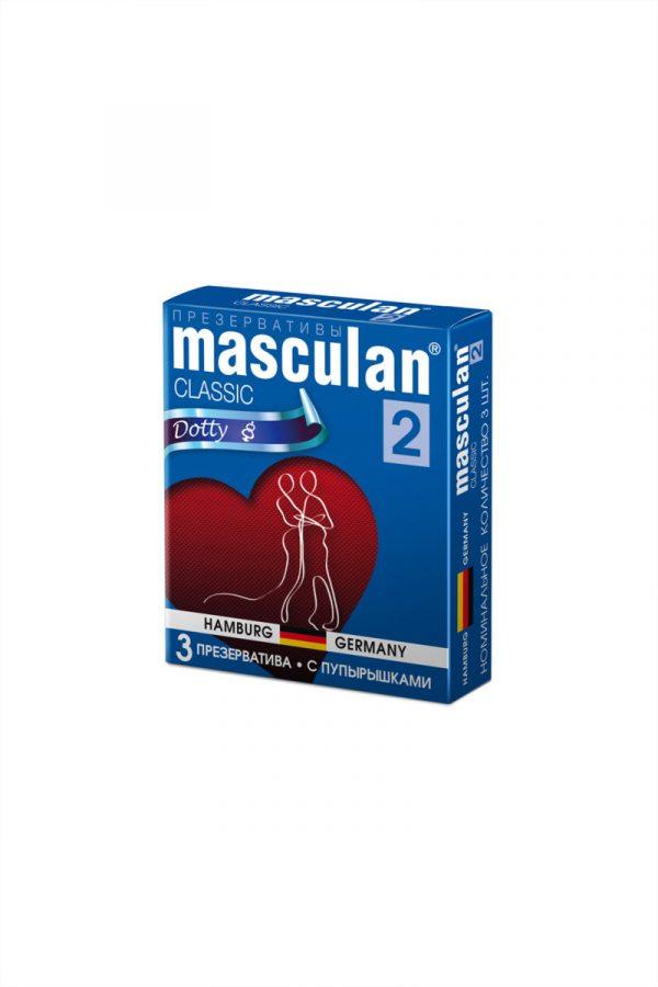 Презервативы Masculan Classic 2,  3 шт.  С пупырышками (Dotty)  ШТ, Категория - Презервативы/Рельефные и фантазийные презервативы, Атрикул 0T-00005538 Изображение 2
