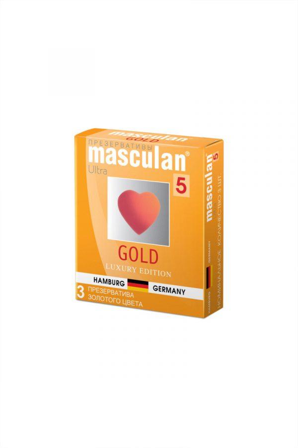 Презервативы Masculan 5 Ultra , 3шт Золотого цвета ШТ, Категория - Презервативы/Классические презервативы, Атрикул 0T-00005756 Изображение 2
