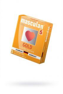 Презервативы Masculan 5 Ultra , 3шт Золотого цвета ШТ, Категория - Презервативы/Классические презервативы, Атрикул 0T-00005756 Изображение 1