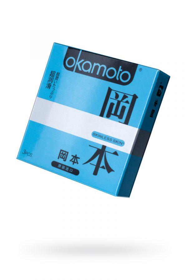 Презервативы Окамото серия Skinless Skin  Super lubricative  № 3 С двойной смазкой, Категория - Презервативы/Классические презервативы, Атрикул 0T-00008081 Изображение 1